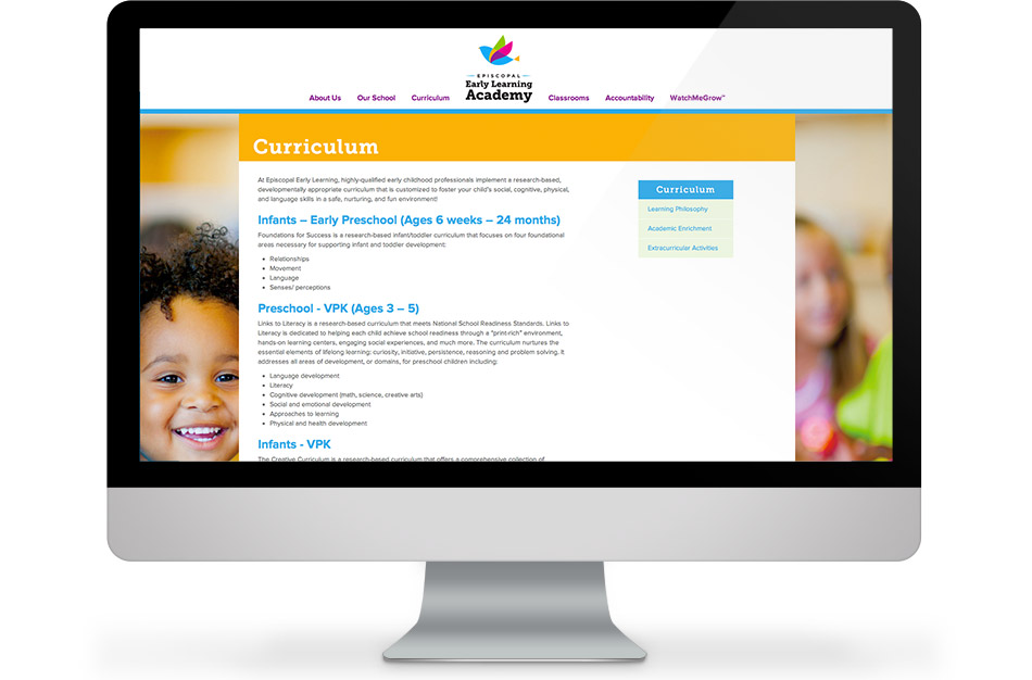 Episcopal Early Learning Academy home page